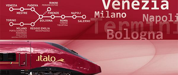"""New Routes and Specials on """"ITALO"""" trains"""