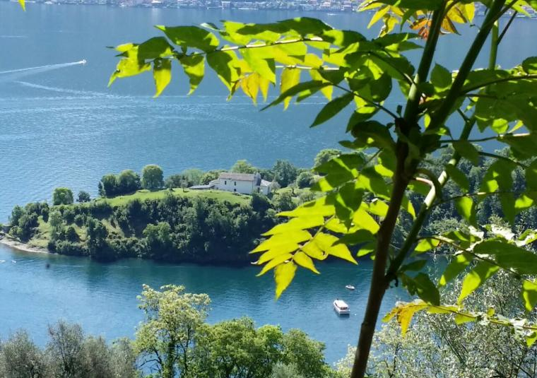 View from the trail lake como