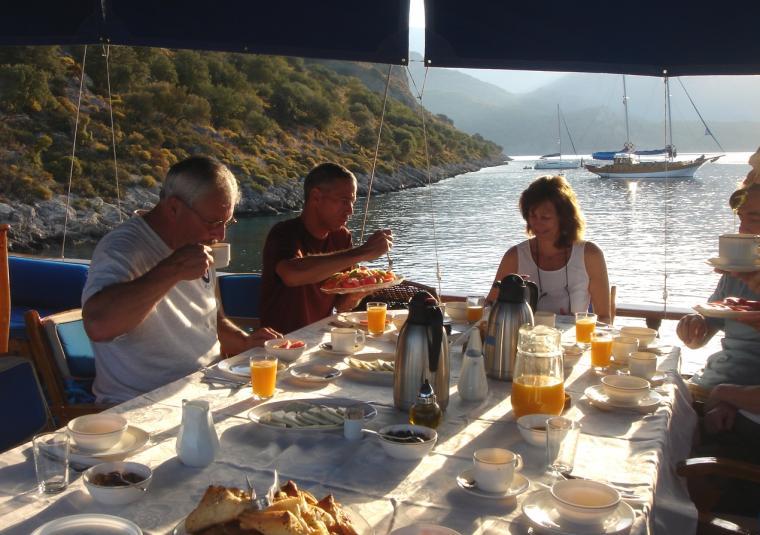 Food breakfast on deck