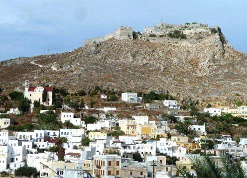 Leros island venetian castle