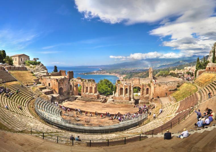 Taormina roman theater customwalks