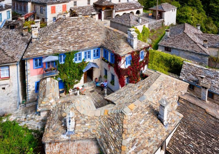 Zagori town from above x website