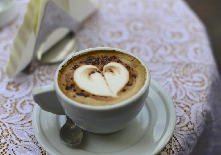 Cauppuccino with heart