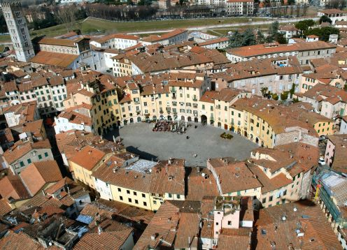 Lucca from the air