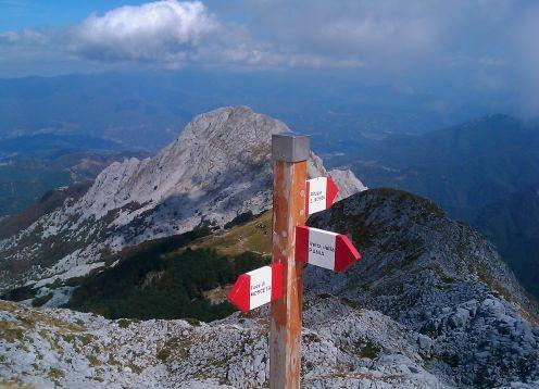 Pania della croce trail signs