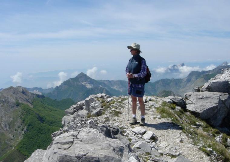 Standing on ridge