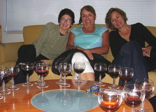 Clienti wine tasting lots of glasses